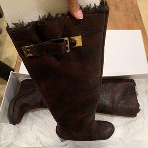 Michael KORS Brown Fabric Boot